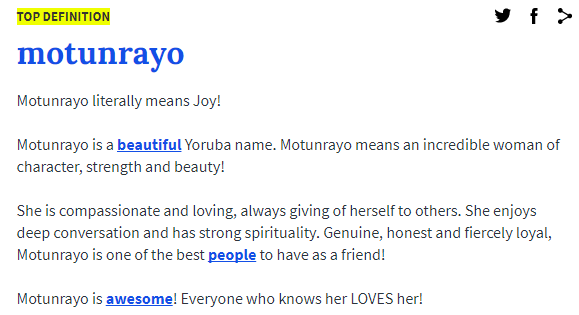 Motunrayo Definition